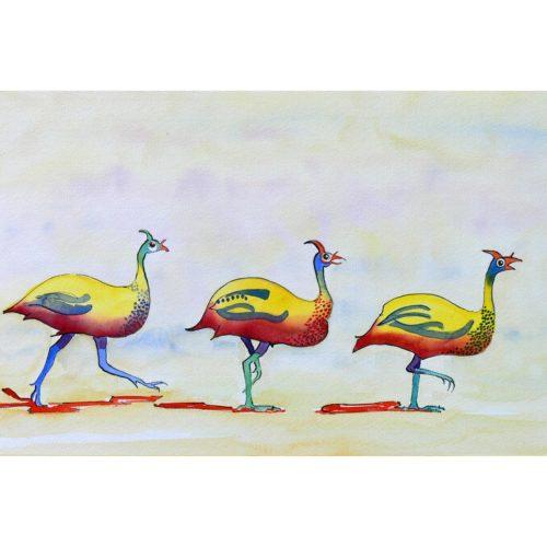 Afrikanische Hühner