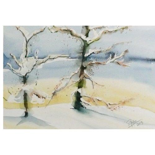 Winter mit Bäumen