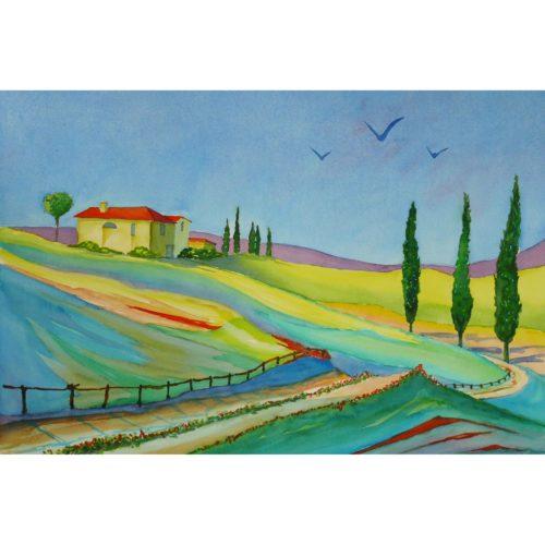 Toscana mit Zypressen