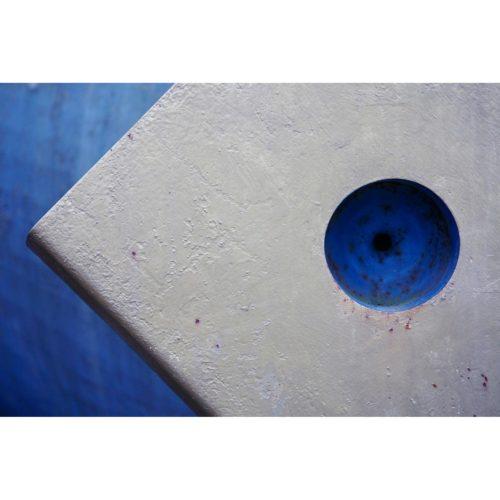 Blauer Zirkel Metall