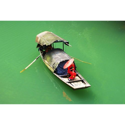 Boot mit Frau