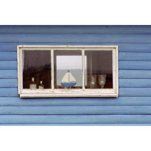 Boot im Fenster