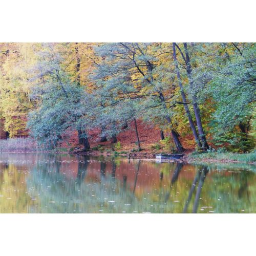 Herbst am See mit Boot