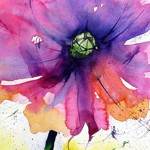 Grußkarten-Aquarellmotive-Blumen