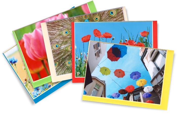 Postenkarten-mit-Umschlägen-in-5-verschiedenen-Farben